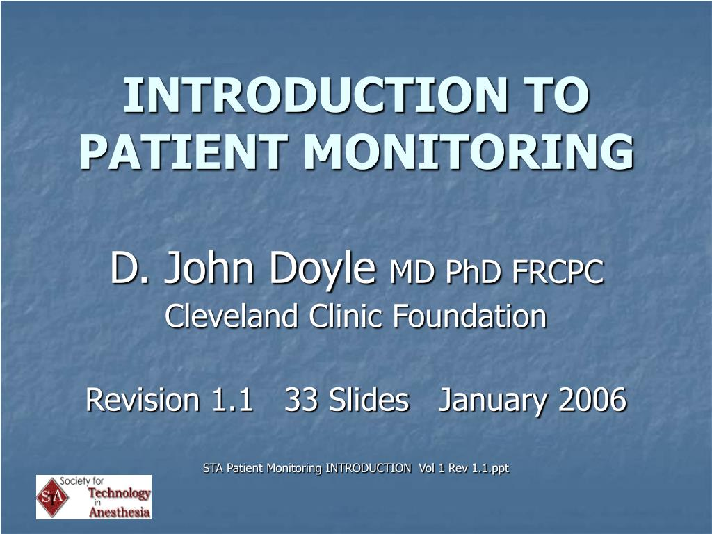 introduction to patient monitoring l.