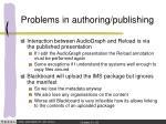 problems in authoring publishing