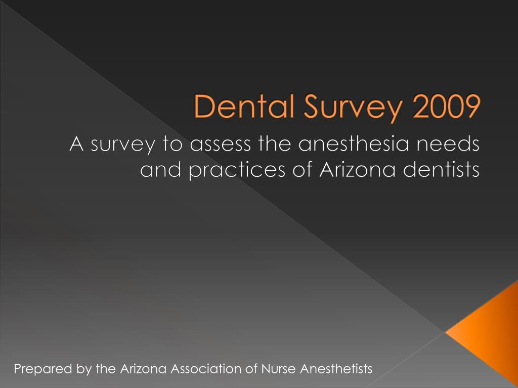 dental survey 2009 l.