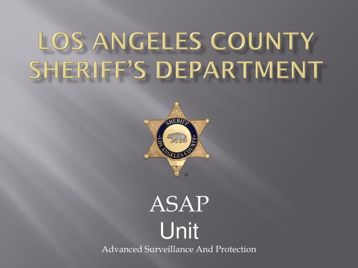 los angeles county sheriff s department n.