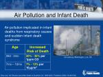 air pollution and infant death