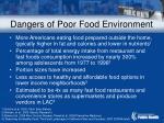 dangers of poor food environment