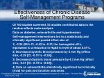 effectiveness of chronic disease self management programs