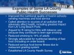 examples of some la county public health successes