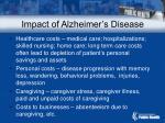 impact of alzheimer s disease