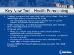 key new tool health forecasting