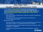 key new tool health impact assessment hia