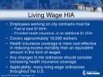 living wage hia