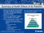 summary of health effects of air pollution56