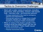 tactics to overcome challenges
