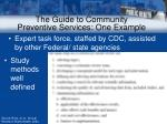 the guide to community preventive services one example