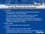 underlying determinants of health in the physical environment