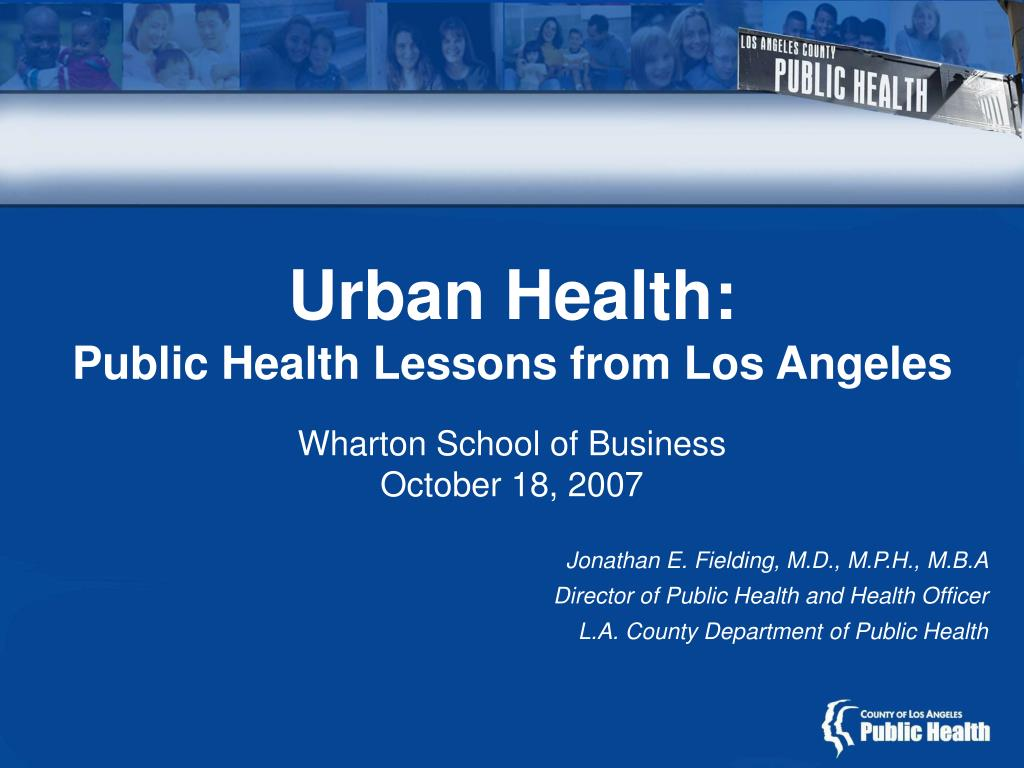 urban health public health lessons from los angeles l.