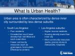 what is urban health