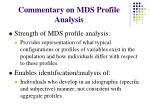 commentary on mds profile analysis