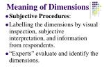 meaning of dimensions
