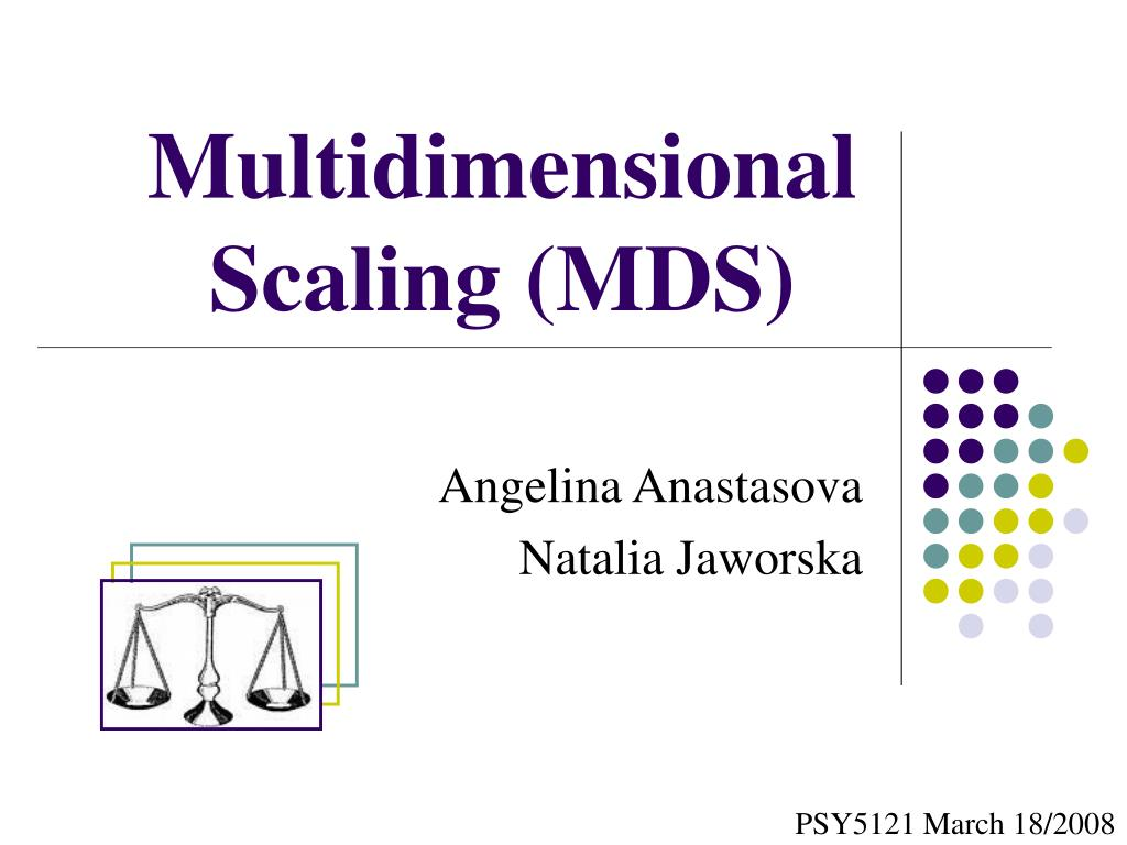 multidimensional scaling mds l.