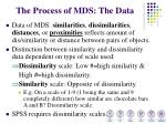 the process of mds the data