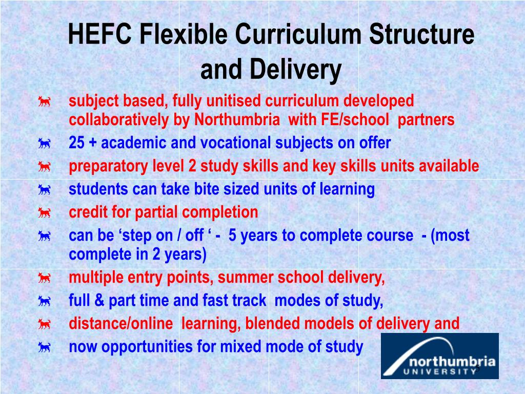 HEFC Flexible Curriculum Structure and Delivery