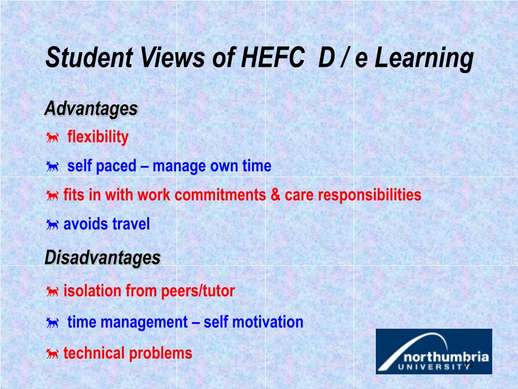 Student Views of HEFC  D / e Learning