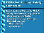 fmea for patient safety standards