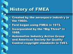history of fmea