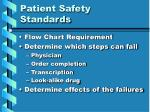 patient safety standards15
