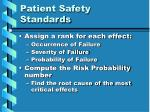patient safety standards16