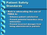 patient safety standards17