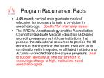 program requirement facts