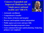 conyers expanded and improved medicare for all single payer national health care hr 676