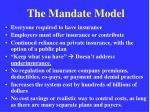 the mandate model