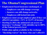 the obama congressional plan
