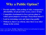 why a public option