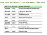 leve frizione lever clucth mercedes compl n 75