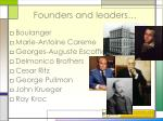 founders and leaders