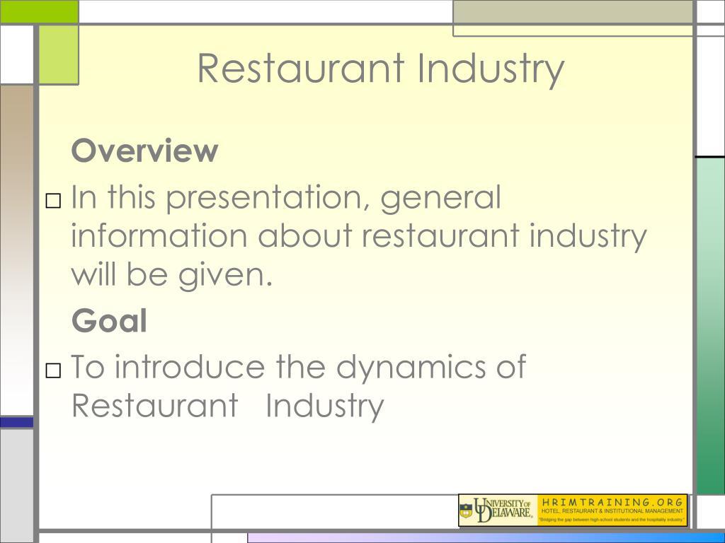restaurant industry l.