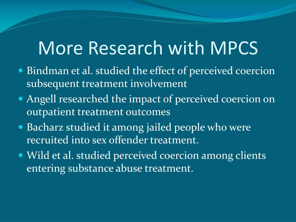 More Research with MPCS