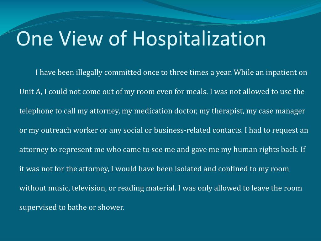 One View of Hospitalization