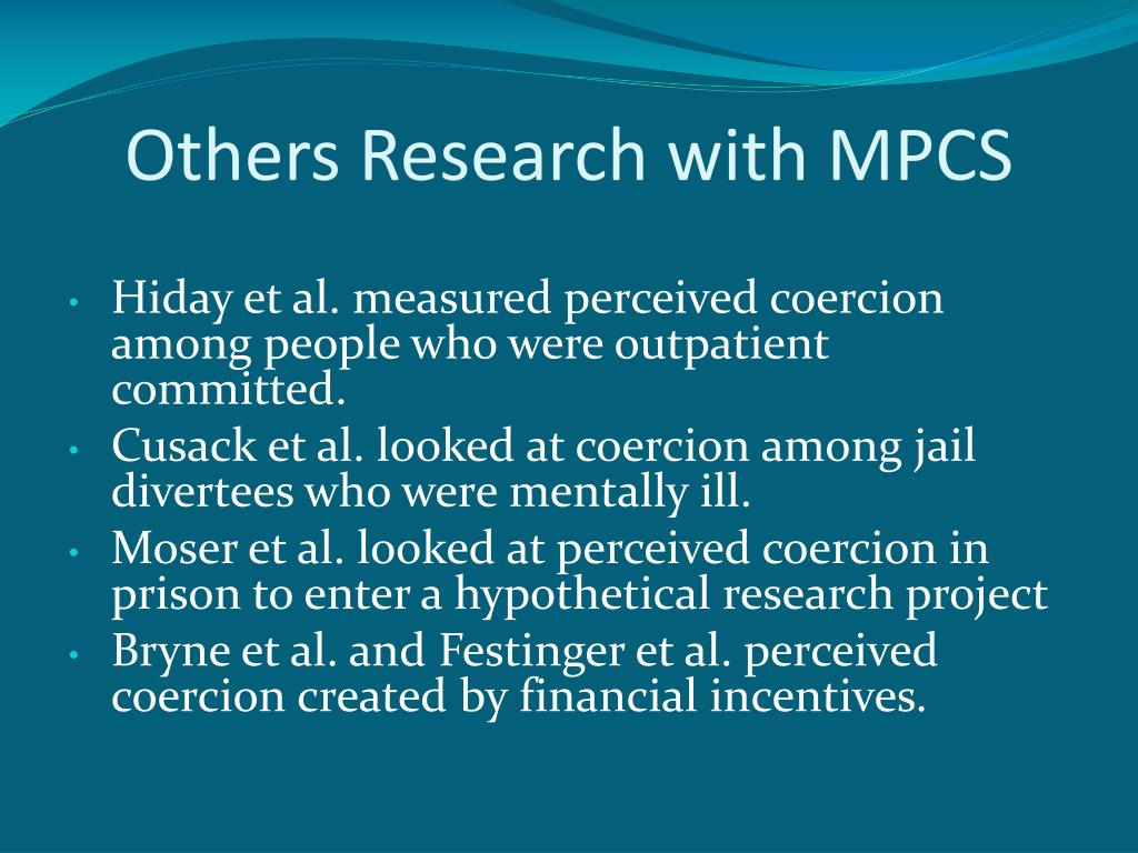 Others Research with MPCS