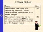 findings students13