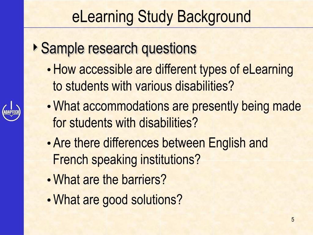 eLearning Study Background
