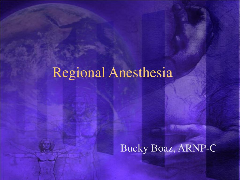 regional anesthesia l.