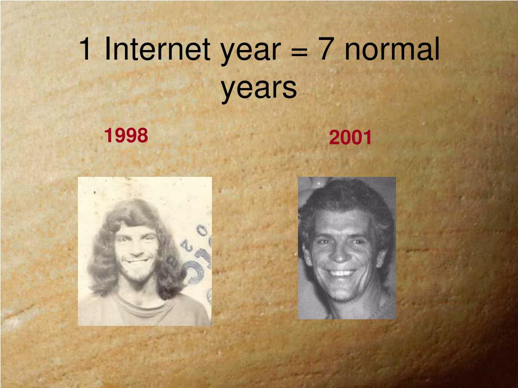 1 Internet year = 7 normal years