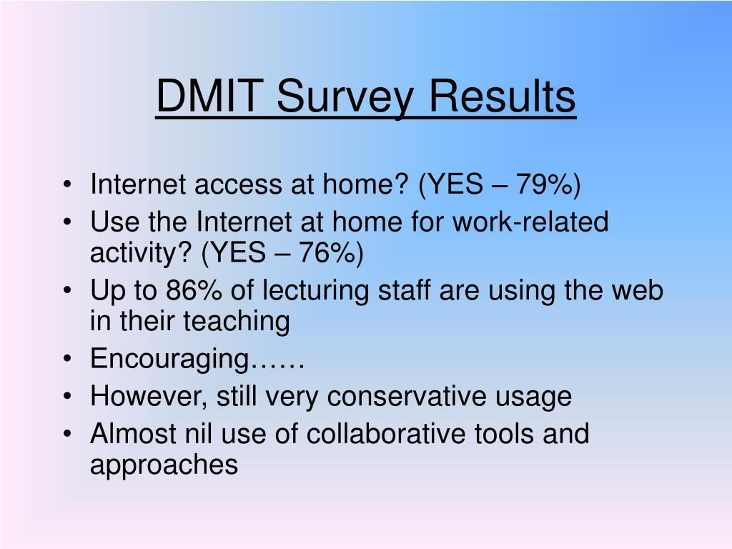 DMIT Survey Results