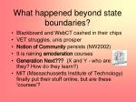 what happened beyond state boundaries