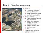 titanic quarter summary