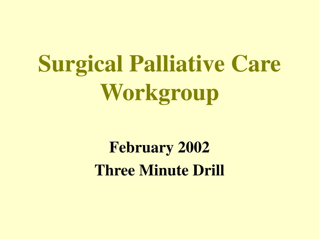 surgical palliative care workgroup l.
