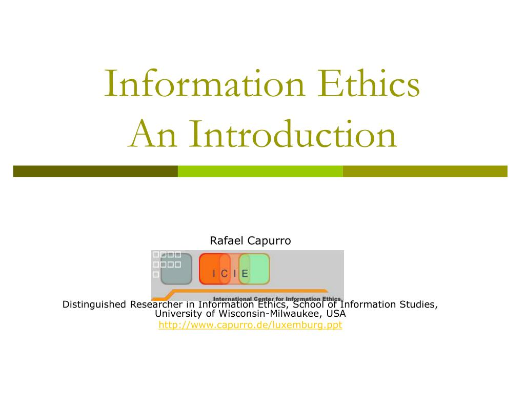 information ethics an introduction l.