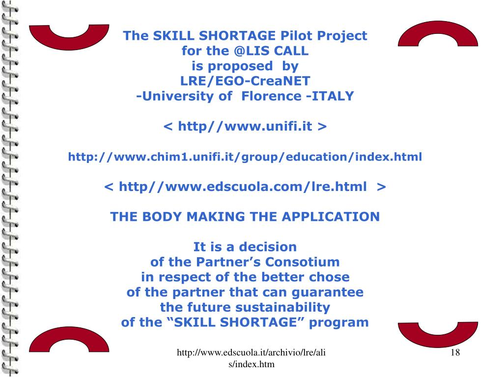 The SKILL SHORTAGE Pilot Project